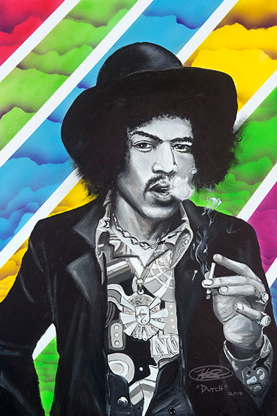 holland smith, jimi hendrix, lux pot shop